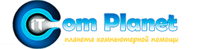 Логотип планета компьютерной помощи в Минске